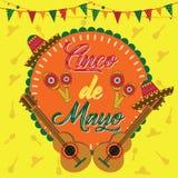 Cinco De Mayo Festival mexicano stock de ilustración