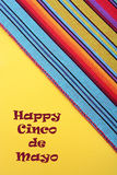 Cinco de Mayo festive background. Cinco de Mayo festive stripe material on yellow background, with copy space Stock Image