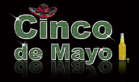 Cinco de Mayo. Festive, glittery text Cinco de Mayo, created in Photoshop royalty free illustration