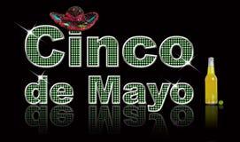 Cinco de Mayo. Festive, glittery text Cinco de Mayo, created in Photoshop Stock Image