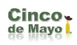 Cinco de Mayo. Festive conceptual for Cinco de Mayo, on a white background Royalty Free Stock Photos