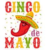 Cinco De Mayo festlich stock abbildung