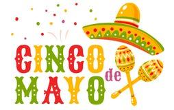 Cinco De Mayo festlich lizenzfreie abbildung