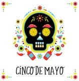 Cinco de Mayo, fiesta mexicana, cartel del día de fiesta, aviador del partido, tarjeta de felicitación