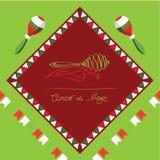 Cinco de Mayo, fiesta mexicana, cartel del día de fiesta, bandera, tarjeta de felicitación stock de ilustración