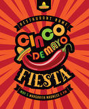 Cinco De Mayo fiesta poster royalty free illustration