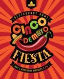 Cinco De Mayo-Fiestaplakat lizenzfreie abbildung
