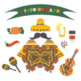 Cinco de Mayo (fifth of May Day). Vector illustration Stock Photos