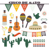 Cinco de Mayo (fifth of May Day). Vector illustration Stock Photography
