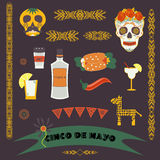 Cinco de Mayo (fifth of May Day). Vector illustration Royalty Free Stock Image