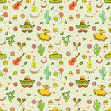 Cinco de Mayo Fifth of May seamless pattern. Royalty Free Stock Photo