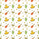 Cinco de Mayo Fifth of May seamless pattern. stock illustration