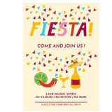 Cinco de Mayo flyer template. Party invitation cartoon vextor illustration Stock Image