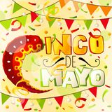 Cinco de mayo greeting card. Mexican holiday abstract background