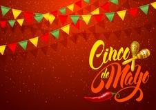 Cinco de Mayo hälsning royaltyfri illustrationer