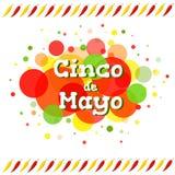 Cinco de Mayo hälsningkort Royaltyfri Foto