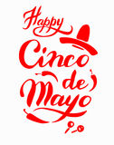 Cinco De Mayo hand drawn lettering Royalty Free Stock Photography