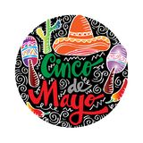 Cinco De Mayo. royalty free illustration