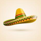 Cinco de Mayo hatt royaltyfri illustrationer