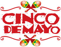 Cinco de Mayo Heading Stock Photos