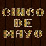 Cinco DE Mayo Het van letters voorzien uitdrukking in etnisch ornament
