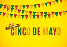 Cinco De Mayo Holiday Background Vector illustratie