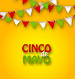 Cinco De Mayo Holiday Bunting Background Immagine Stock