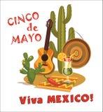 Cinco De Mayo Illustrazione di vettore Immagini Stock Libere da Diritti