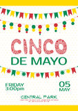 Cinco de mayo invitation poster. Mexican party. Event Royalty Free Stock Photography