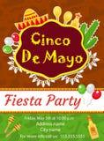 Cinco de Mayo invitation template, flyer. Mexican holiday postcard. Vector illustration. vector illustration