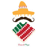 Cinco de mayo. Isolated traditional mexican clothes, Cinco de mayo vector illustration vector illustration