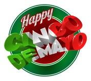 Cinco De Mayo Label Sign feliz ilustración del vector