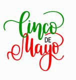 Cinco de mayo lettering. Mexican holiday fiesta greeting design. For postcards, banners and advertisements Stock Photography