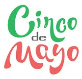 Cinco de Mayo. Lettering text for greeting card. Isolated on white vector illustration Stock Image