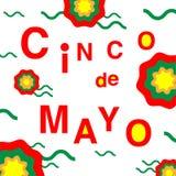 Cinco de Mayo - 5 maggio illustrazione di stock