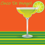 Cinco de Mayo Margarita card. In vector format Royalty Free Stock Photography