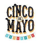 Cinco de Mayo - May 5, federal holiday in Mexico. Fiesta banner and poster design with flags. Flowers, decorations Royalty Free Stock Image