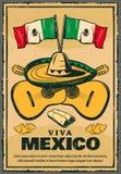 Cinco de Mayo Mexican-affiche van de vakantie de vectorschets