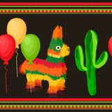 Cinco de Mayo Mexican festive Seamless pattern royalty free stock photo