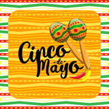 Cinco de mayo, Mexican fiesta banner and poster design . Vector.  Royalty Free Stock Images