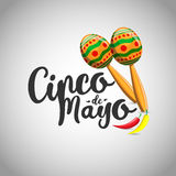 Cinco de mayo, Mexican fiesta banner and poster design . Vector.  Royalty Free Stock Photo