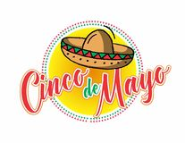 Cinco De Mayo 2. Cinco De Mayo, mexican holiday that happens on the fifth of may vector illustration