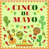 Cinco de Mayo Mexican holiday  illustration Stock Photos