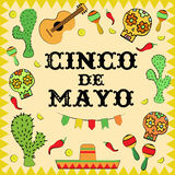 Cinco de Mayo Mexican holiday vector illustration Royalty Free Stock Photography