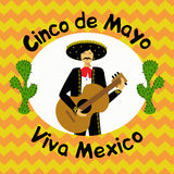 Cinco de Mayo Mexican holiday vector illustration. Template, bruchure, poster