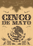 Cinco de mayo - mexican holiday vector poster - card template. Grunge effects can be easily removed Stock Photography