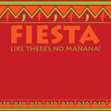Cinco De Mayo!. Mexican pattern Fiesta card in vector format. Translation `Party like there`s no tomorrow