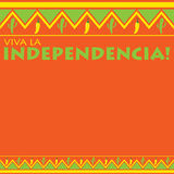 Cinco De Mayo!. Mexican pattern Viva la Independencia card in vector format. Translation `Long live the Independence Stock Photos