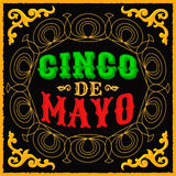 Cinco de mayo - mexican traditional holiday design Stock Photos