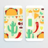 Cinco de mayo. Mexican vector design cell phone mochup with taco royalty free illustration
